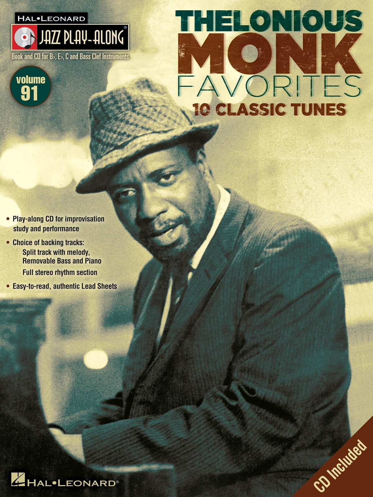 Jazz play-along volume 91 - Thelonious Monk - laflutedepan.com