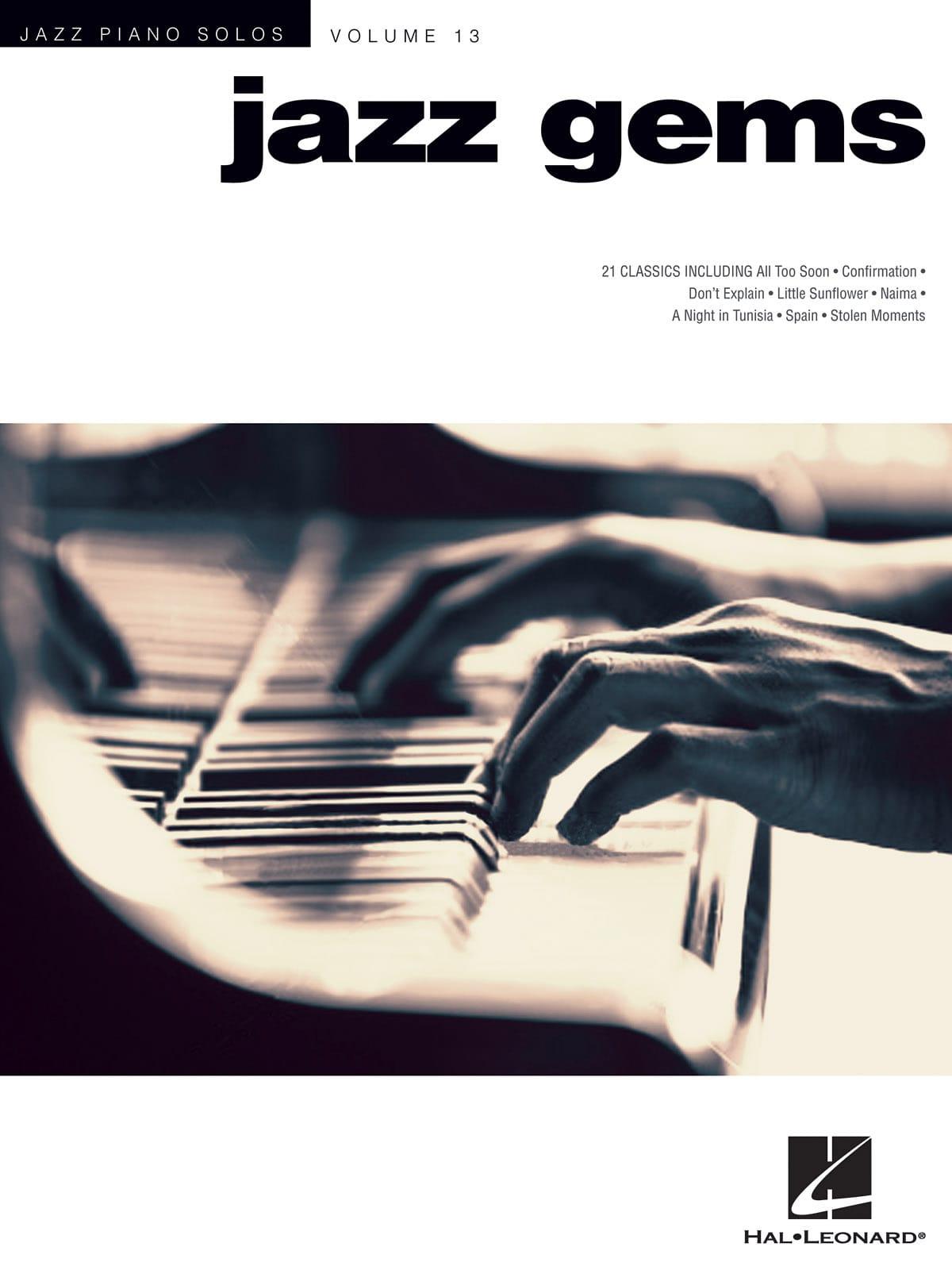 - Jazz Solos Piano Volume 13 - Jazz Gems - Partition - di-arezzo.co.uk