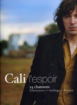 L' Espoir - Cali - Partition - Chanson française - laflutedepan.com