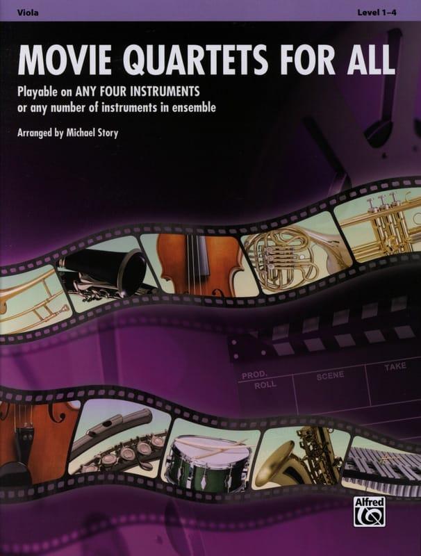 Movie quartets for all - Partition - Alto - laflutedepan.com