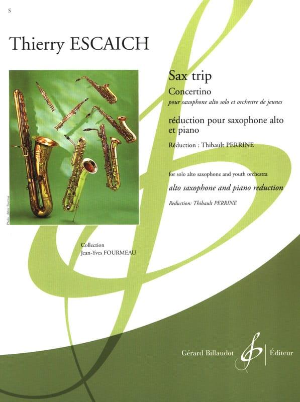 Sax Trip - Concertino - Thierry Escaich - Partition - laflutedepan.com