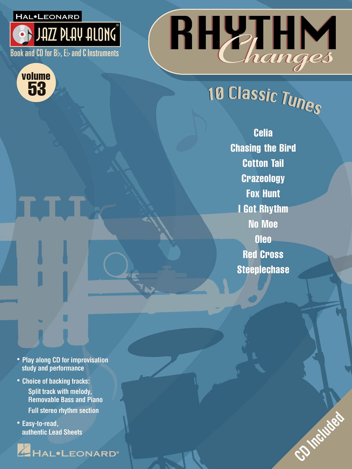 Jazz play-along volume 53 - Rhythm Changes - laflutedepan.com