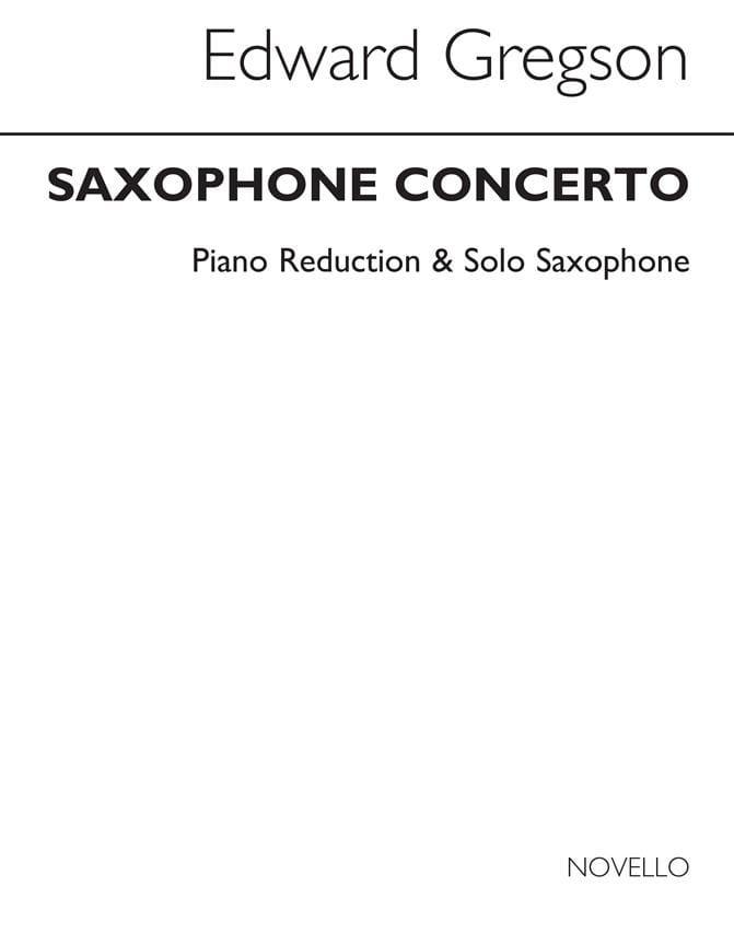 Edward Gregson - Saxophone Concerto - Partition - di-arezzo.com