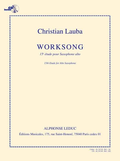 Christian Lauba - 15ème Etude - Worksong - Partition - di-arezzo.fr