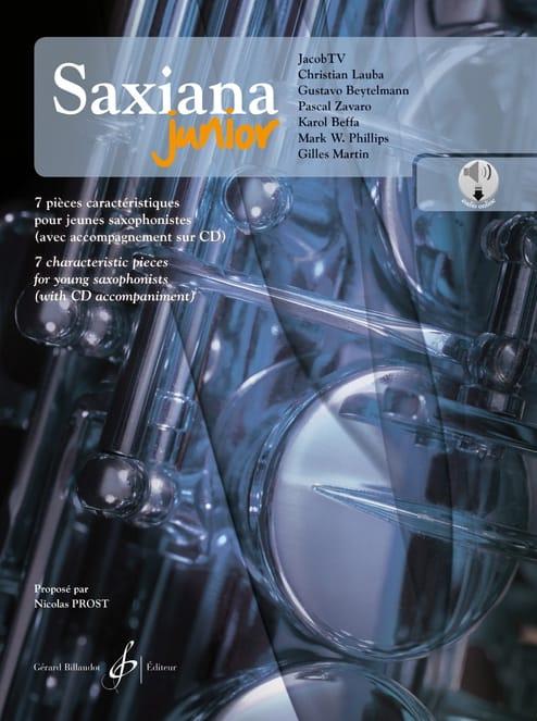 Saxiana Junior - 7 Pièces Caractéristiques pour Jeune Saxophonistes - laflutedepan.com