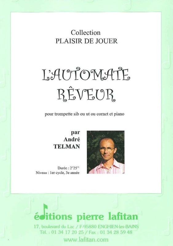 L' Automate Réveur - André Telman - Partition - laflutedepan.com