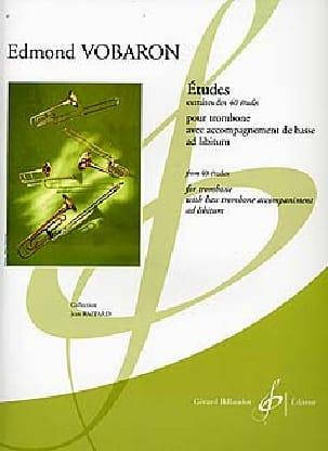 Etudes - Extraites des 40 Etudes - Edmond Vobaron - laflutedepan.com