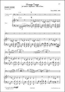 Orange Tango - Alain Lopez - Partition - Tuba - laflutedepan.com
