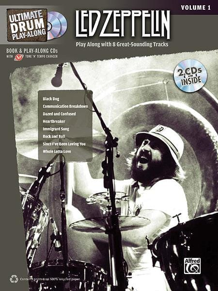 Led Zeppelin - Ultimate Drum play-along volume 1 - Partition - di-arezzo.co.uk