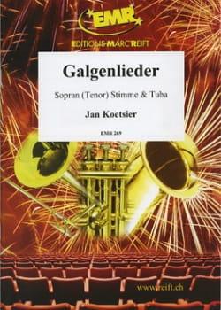 Galgenlieder - Jan Koetsier - Partition - Tuba - laflutedepan.com