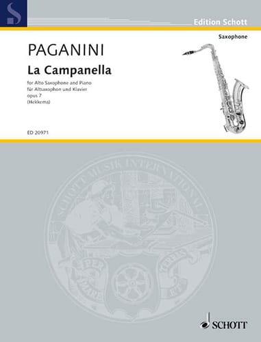 Niccolo Paganini - The Campanella Opus 7 - Partition - di-arezzo.co.uk
