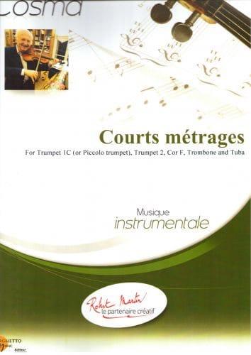 Courts Métrages - Vladimir Cosma - Partition - laflutedepan.com