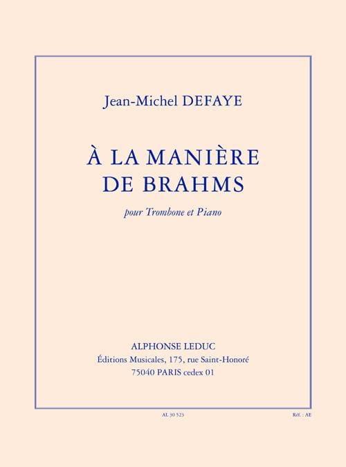 Jean-Michel Defaye - En el camino de Brahms - Partition - di-arezzo.es