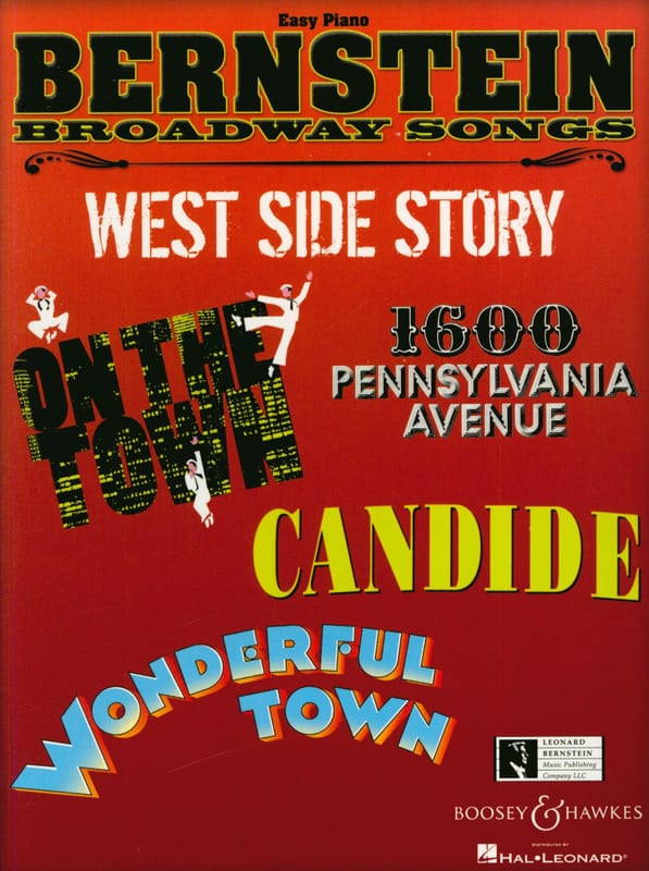 Bernstein Broadway Songs - Easy Piano - BERNSTEIN - laflutedepan.com