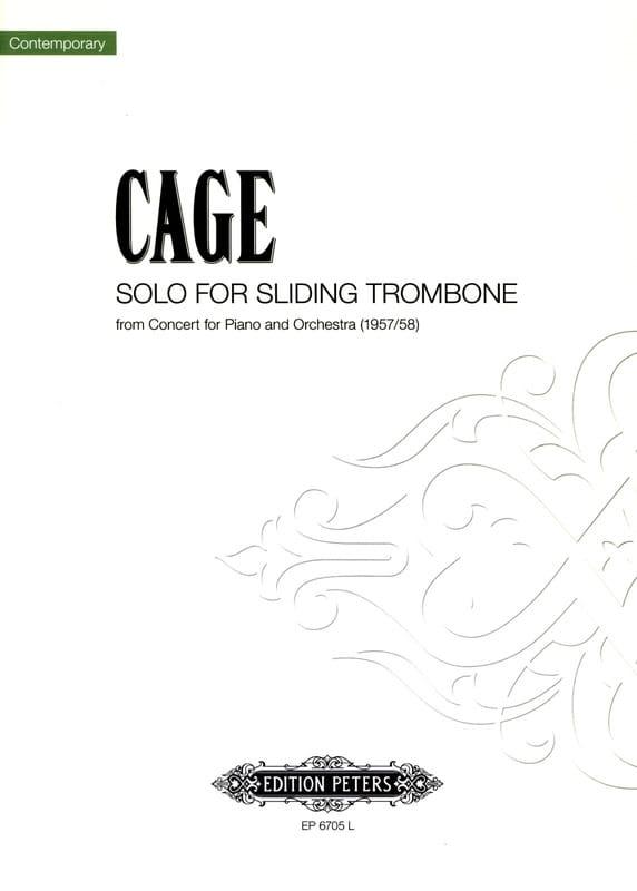 Concerto pour Piano et Orchestre - CAGE - Partition - laflutedepan.com