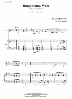 SCHUMANN - Hauptmann's Weib The Captain's Wife - Partition - di-arezzo.com