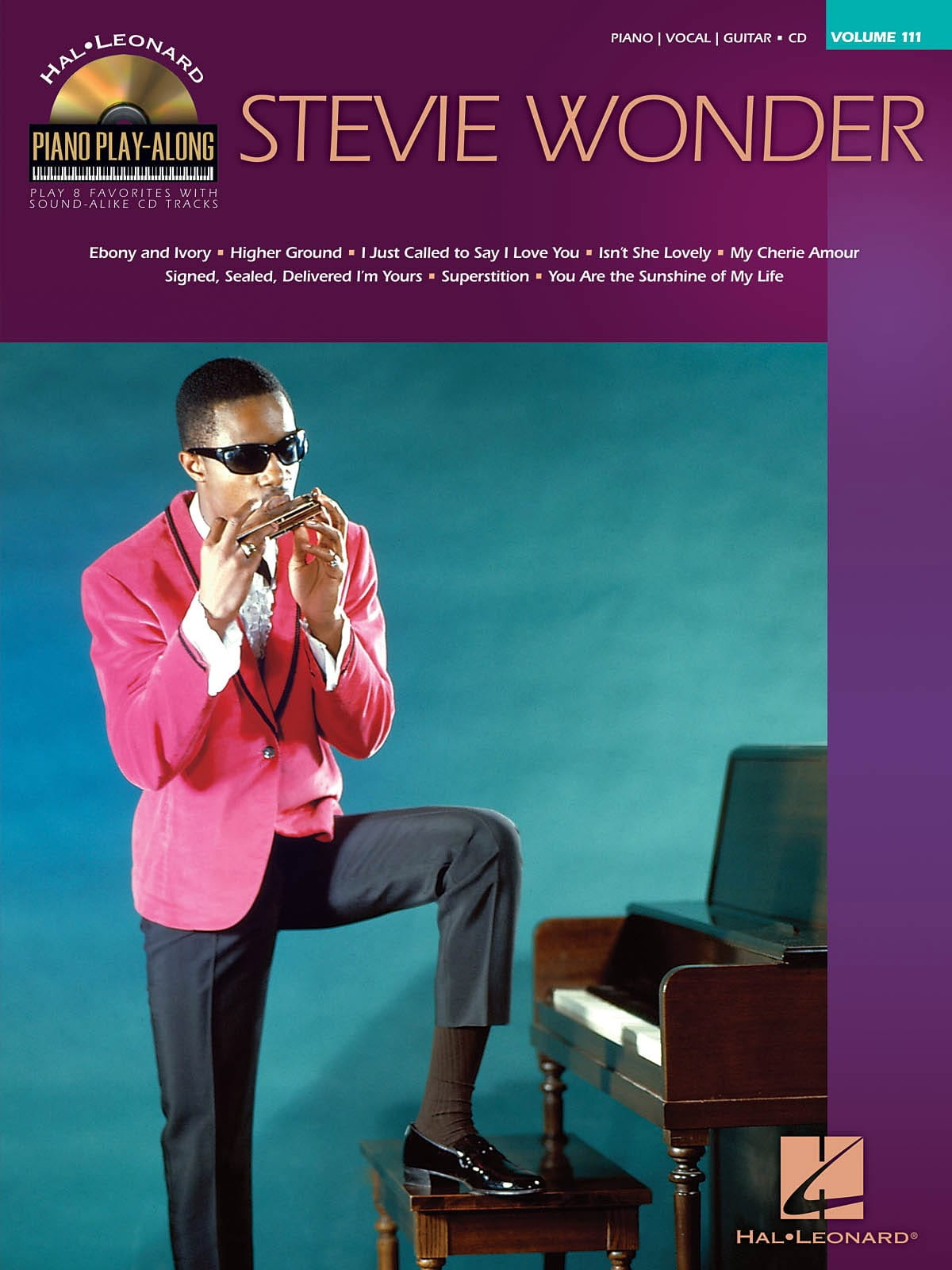 Stevie Wonder - Piano Play-Along Volume 111 - Stevie Wonder - Partition - di-arezzo.com