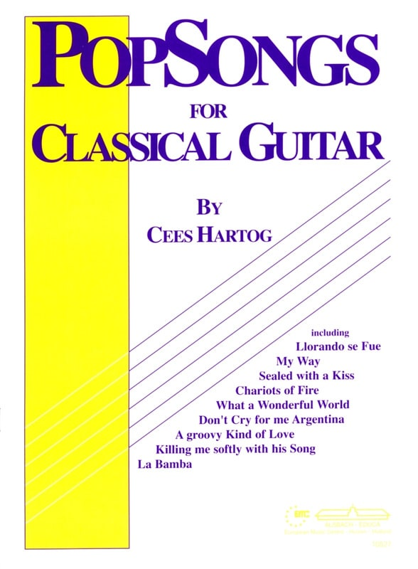 Cees Hartog - Pop-Songs For Classical Guitar - Volume 1 - Partition - di-arezzo.com