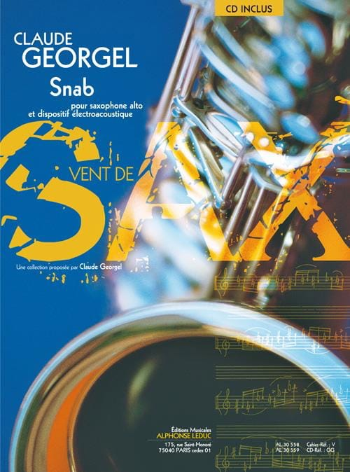 Snab - Claude Georgel - Partition - Saxophone - laflutedepan.com