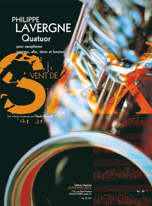 Quatuor - Philippe Lavergne - Partition - Saxophone - laflutedepan.com