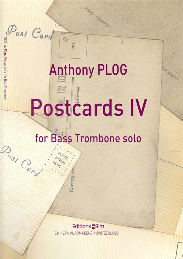 Postcards IV - Anthony Plog - Partition - Tuba - laflutedepan.com