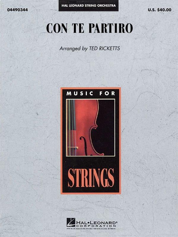 Con Te Partiro (Time To Say Goodbye) - Pop Specials for Strings - laflutedepan.com