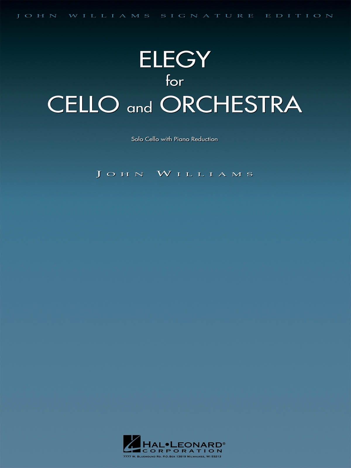 John Williams - Elegy for Cello and Orchestra - Partition - di-arezzo.co.uk