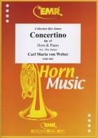 Carl Maria von Weber - Concertino Opus 45 - Partition - di-arezzo.es