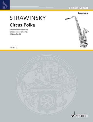 Circus Polka - STRAVINSKY - Partition - Saxophone - laflutedepan.com