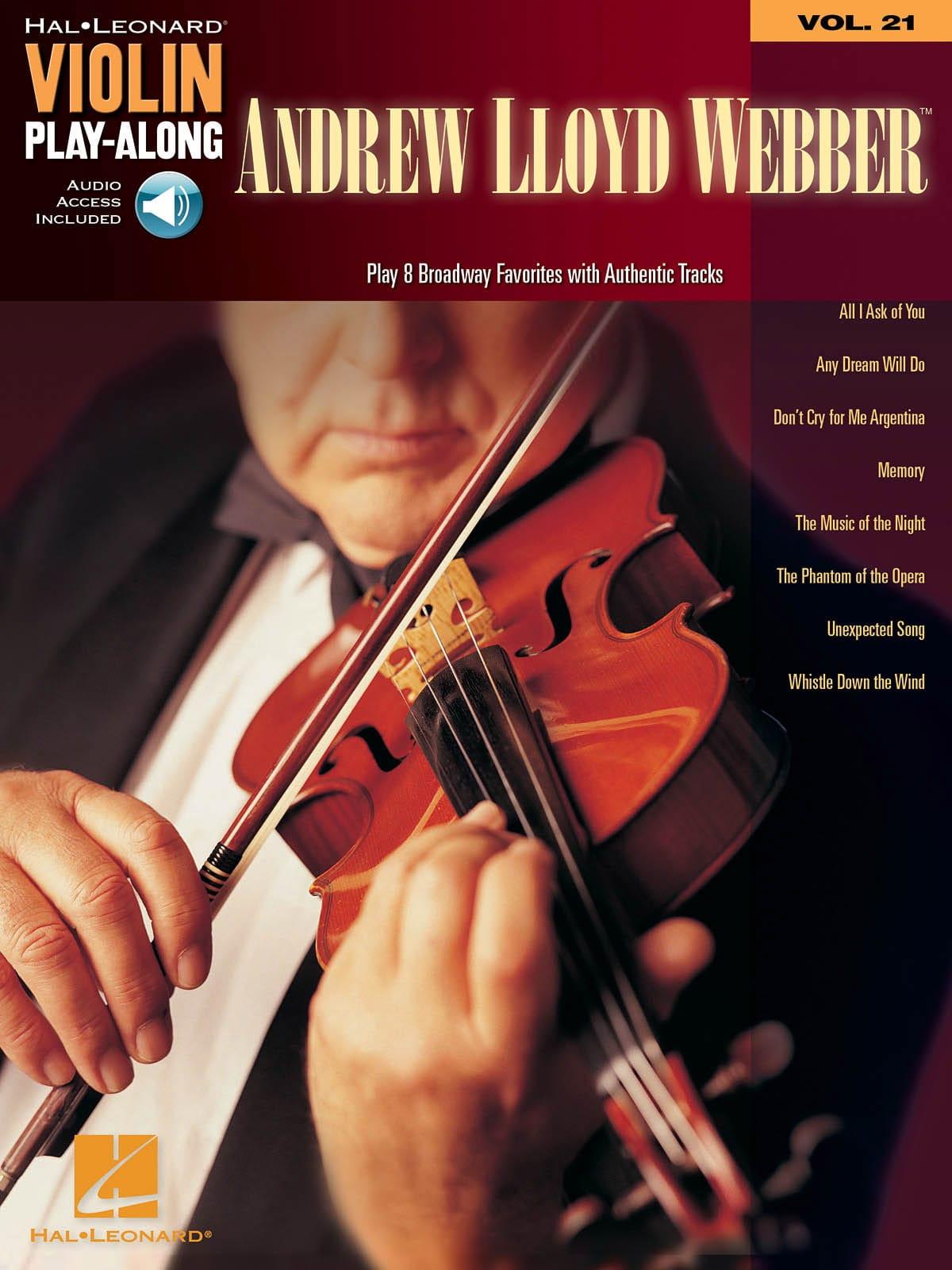Violin play-along volume 21 - Andrew Lloyd Webber - laflutedepan.com