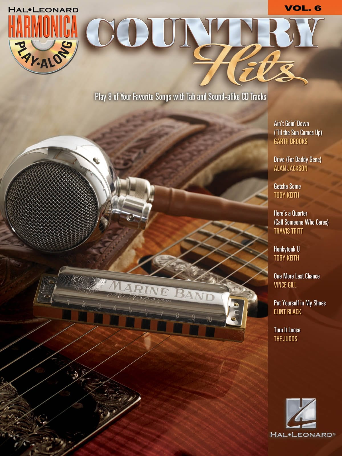 Harmonica Play-Along Volume 6 - Country Hits - laflutedepan.com