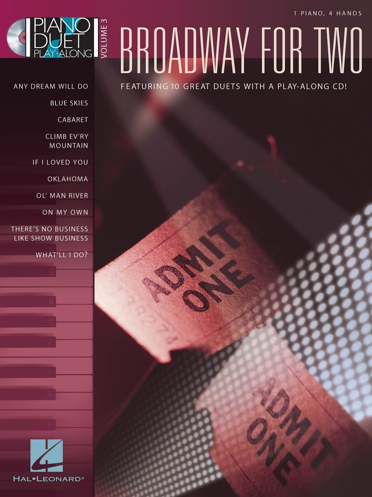 Piano Duet Play-Along Volume 3 - Broadway for Two - laflutedepan.com
