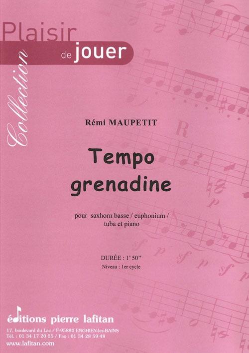 Tempo Grenadine - Rémi Maupetit - Partition - Tuba - laflutedepan.com