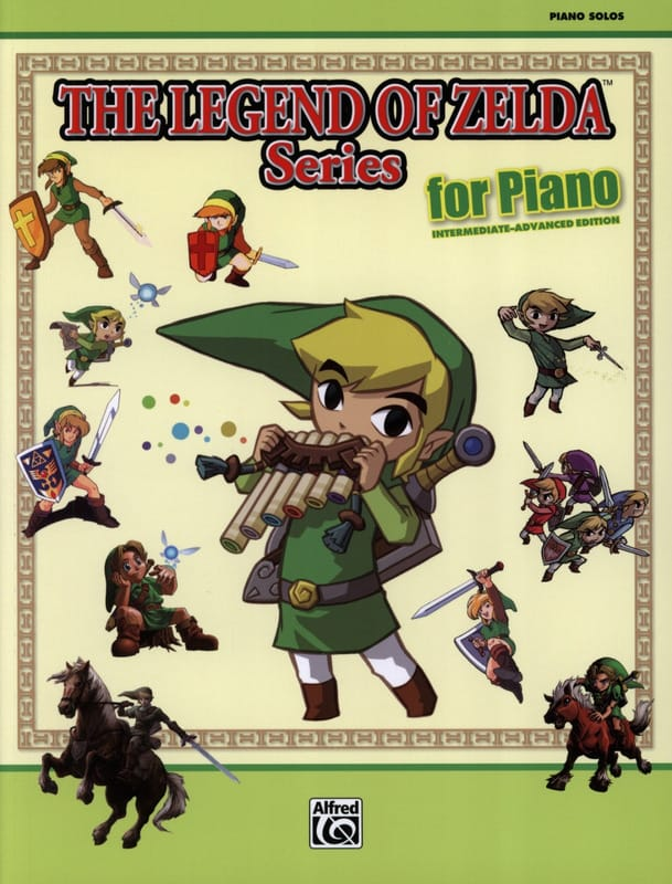 Musique de Jeux Vidéo - The legend of Zelda series for piano Intermediate / advanced edition - Partition - di-arezzo.co.uk