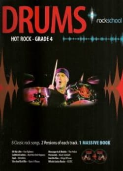 Drums Hot Rock Grade 4 - Rockschool - Partition - laflutedepan.com