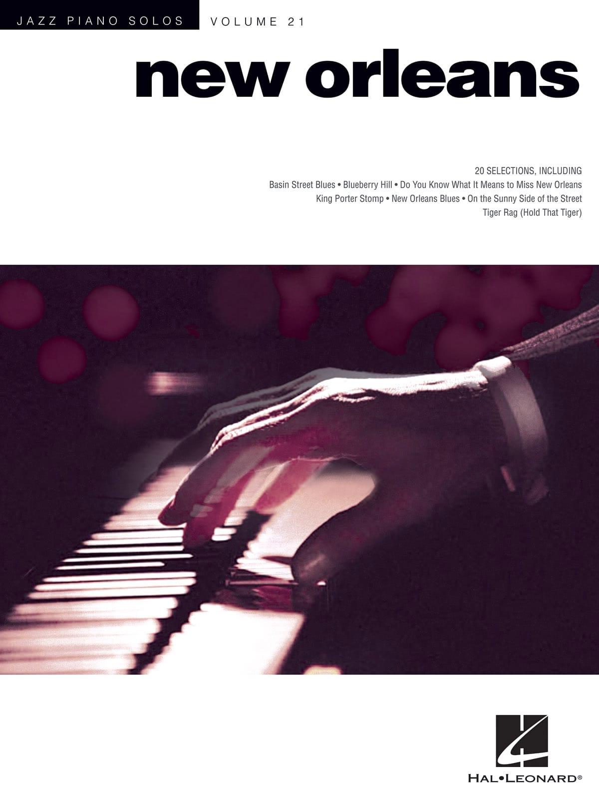 Jazz piano solos volume 21 - New Orleans - laflutedepan.com