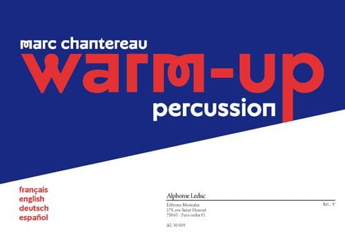 Warm-up percussion - Marc Chantereau - Partition - laflutedepan.com