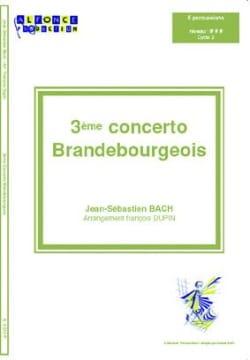 3ème Concerto Brandebourgeois - BACH - Partition - laflutedepan.com