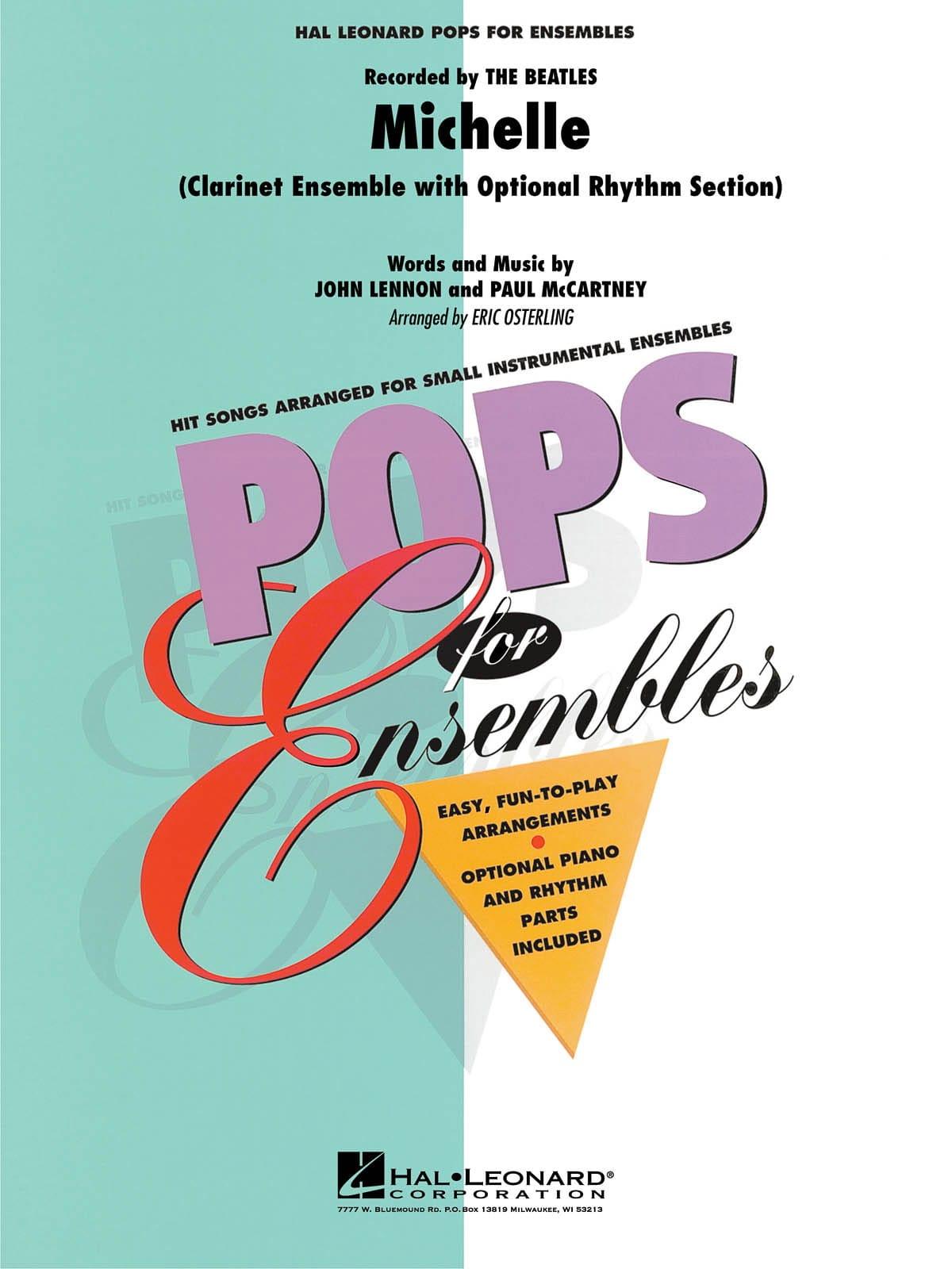 Michelle - Pops for Ensemble - BEATLES - Partition - laflutedepan.com