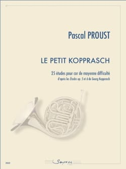 Pascal Proust - The little Kopprasch - 25 Studies of medium difficulty - Partition - di-arezzo.co.uk