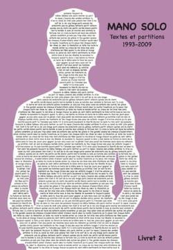 Textes et partitions 1993-2009 Livret 2 - Mano Solo - laflutedepan.com