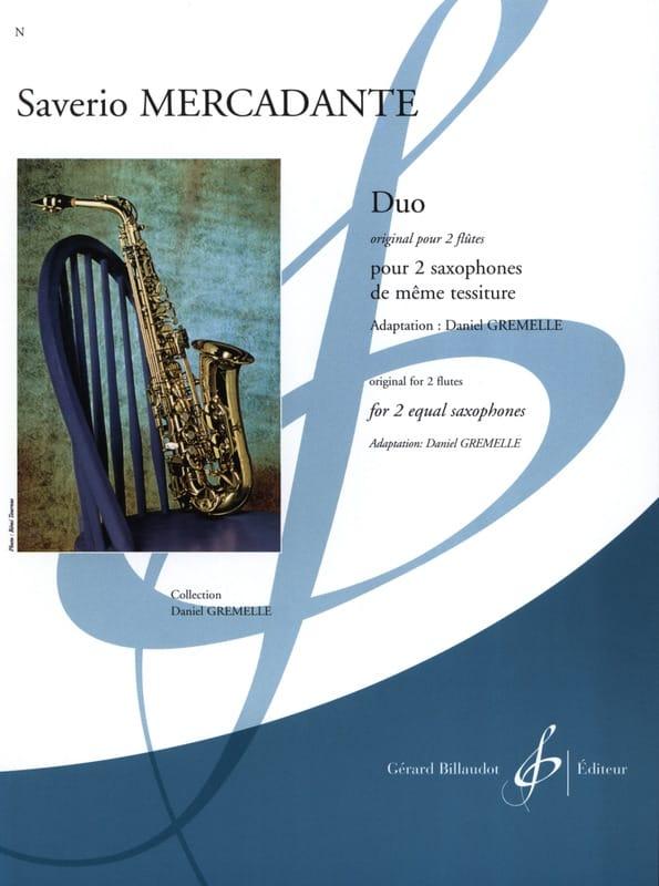 Duo - Original pour 2 flûtes - Saverio Mercadante - laflutedepan.com