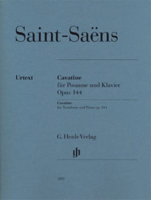 Camille Saint-Saëns - Cavatine Opus 144 - Urtext - Partition - di-arezzo.co.uk