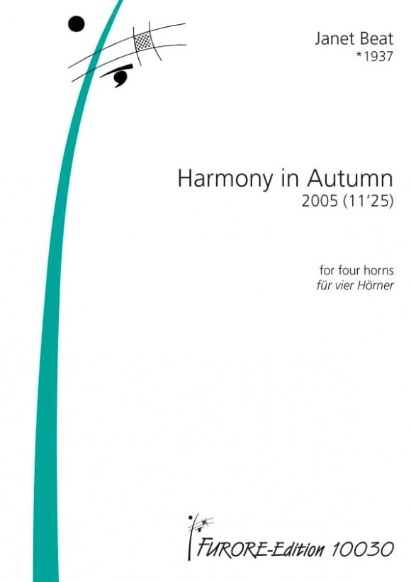 Harmony in autumn - Janet Beat - Partition - Cor - laflutedepan.com