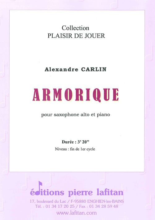 Armorique - Alexandre Carlin - Partition - laflutedepan.com