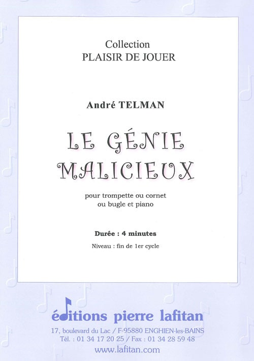 André Telman - Le génie malicieux - Partition - di-arezzo.fr