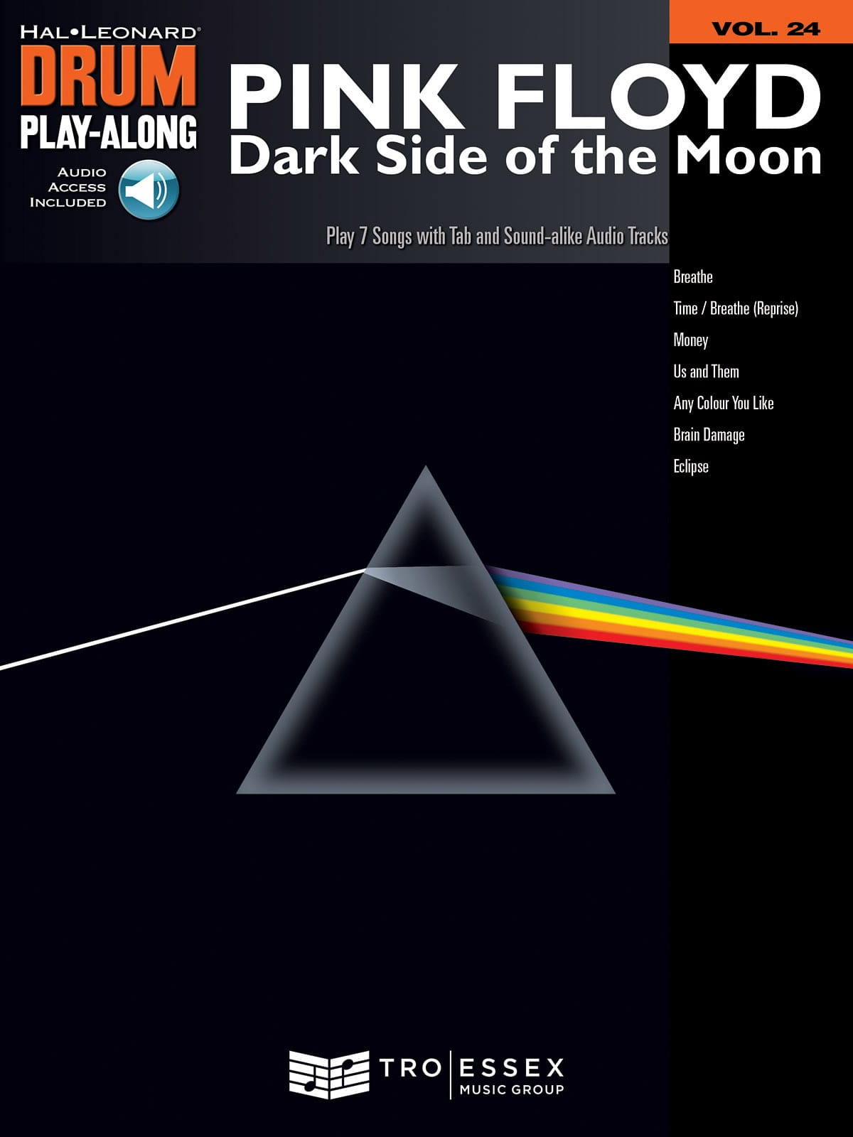 Pink Floyd - Drum play-along volume 24 - Dark side of the moon - Partition - di-arezzo.com