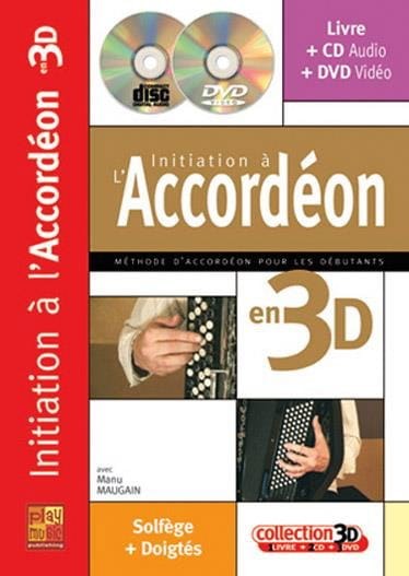 Manu Maugain - Initiation to the accordion in 3D - Partition - di-arezzo.com