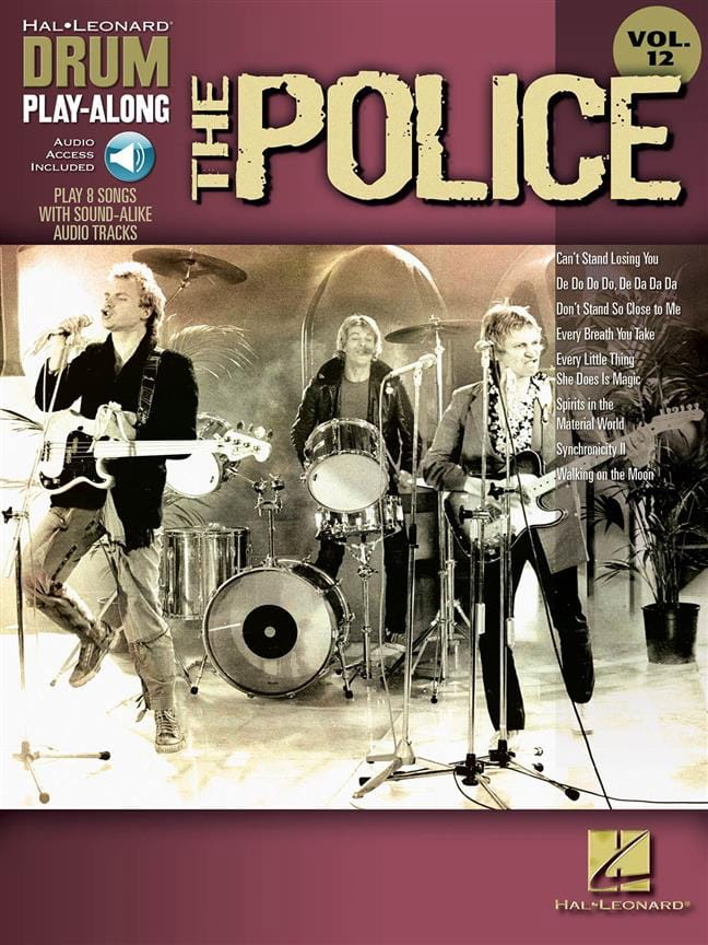 Drum play-along volume 12 - The Police - The Police - laflutedepan.com