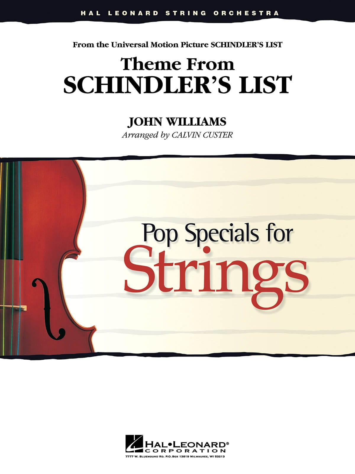 John Williams - Theme from Schindler's list - Pop specials for strings - Partition - di-arezzo.co.uk